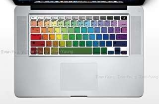 Rainbow Apple Macbook pro air keyboard cover sticker protector Vinyl