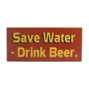 Beer Wood Sign   Save Water Drink Beer: Sports & Outdoors