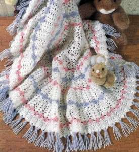 FOR Precious Round Shell Baby Afghan Blanket Avg. Skill