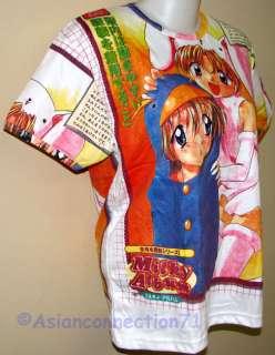 MILKY GIRLS Japanese Anime Japan Manga Cap Sleeve T Shirt Misses Size
