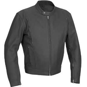 River Raod Alloy Vented Leather Motorcycle Jacket Matte
