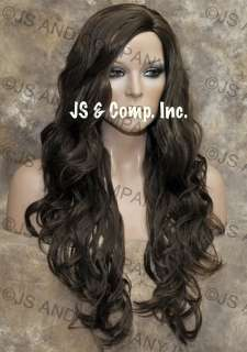 EXTRA LONG Curly Light Brown skin top WIG WIGS ob 10
