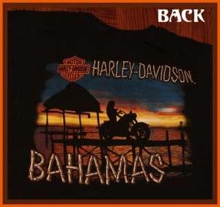 Harley Davidson Bahamas Awesome Motorcycle T Shirt XXL