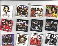 12 METAL TOKIO HOTEL SQUARE BUTTONS PIN BADGES SMALL