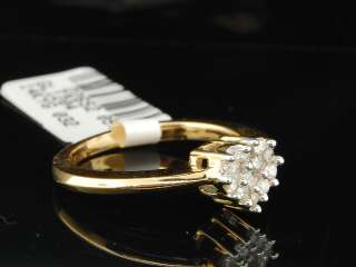 YELLOW GOLD ROUND CUT HEART SHAPE DIAMOND ENGAGEMENT RING BAND