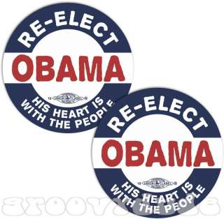 President Barack OBAMA 2012 Political Campaign Button Pin Heart With