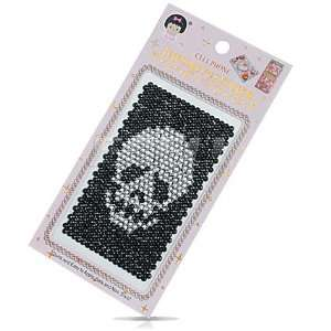 CLEAR SKULL 3D CRYSTAL DIAMOND PHONE BLING STICKER Electronics