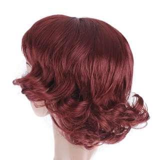 Womens Fashion Stylish 10 short curly Hair Wig Healthy W021