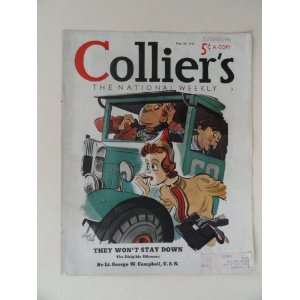 Colliers Magazine May 28,1938 (Cover Only) /cover art by Ralph Stein