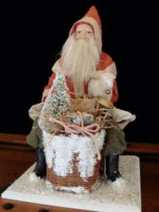 GERMAN STYLE SANTA BELSNICKLE TOY BASKET SHEEP TREE ~ SALE