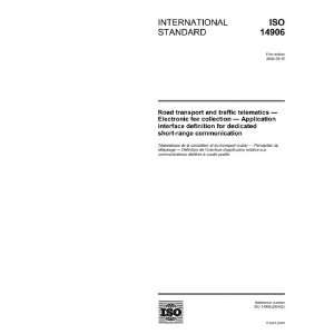 ISO 149062004, Road transport and traffic telematics