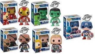 The Avengers Set of 5 Pop Vinyl Figure Funko Thor Iron Man Nick Fury