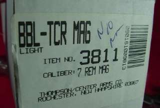 NIB Thompson Center TC TCR 83 87 24 7MM Rem Mag Rifle Barrel