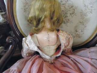 beautiful antique french boudoir doll her head is