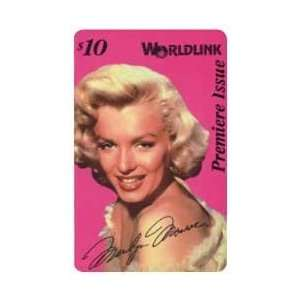 Marilyn Collectible Phone Card $10. Marilyn Monroe In White   Pink