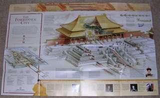 National Geographic MAP CHINA Forbidden City MAY 2008