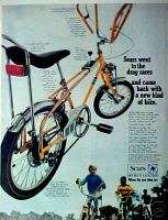 1968  Screamer Bicycle Boys Bike Yellow Butterfly Bar Trade AD