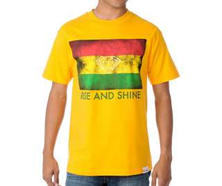 Diamond Supply Co. Rise and Shine T Shirt rasta red yellow green