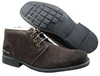 New Calvin Klein Mens Randall Suede Dark Brown Boots US Sizes