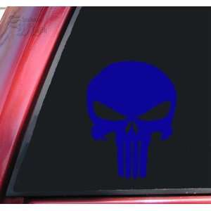 Punisher 2K Skull Vinyl Decal Sticker   Blue Automotive