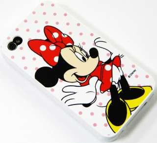 NEW MINNIE MOUSE IPHONE 4 4S SILICONE GUMMY JELLY GEL COVER CASE W