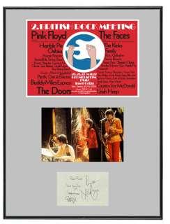 Syd Barrett Pink Floyd Memorabilia Poster & Autographs