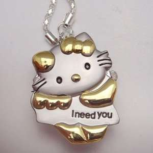 Hello Kitty Necklace Pendant Watch I Need You