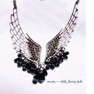 New Fashion Angel Wing Drip Pendant Necklace 2 Color