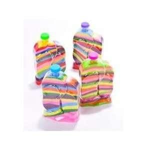 Kids Flip Flop Sand Art Bottles 6 inch (1 Dozen) Sports