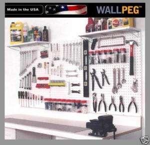 PEG BOARD & HOOK KIT  PEGBOARD GARAGE TOOL STORAGE 72