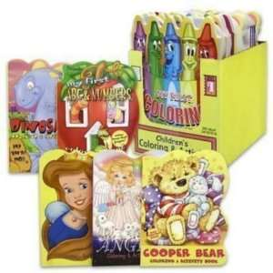 Coloring Book 112 Pages Die Cut 6 Assorted Case Pack 24