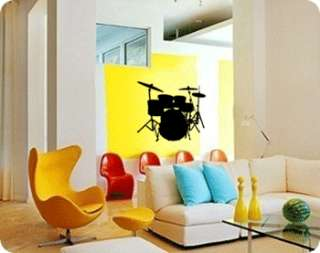 BIG DRUM SET   Vinyl Wall Art Decals Stickers Murals