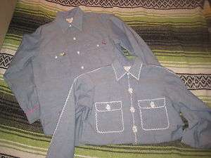 VINTAGE BIG MAC BLUE CHAMBRAY WORK SHIRT S M DEADSTOCK NEW BIG MAC