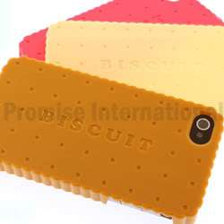 NIB Cute Brown Chocolate Biscuits Hard Case Cover For Apple iPhone 4
