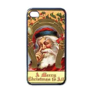 Santa Claus A Merry Christmas To All Black Case for iphone 4