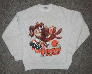 Vintage Cleveland Browns Kids Taz Tasmanian Devil Sweatshirt YM Youth