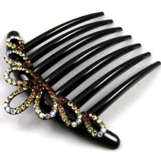 SHIPPING 1pc rhinestone crystal fashion French twist hair comb
