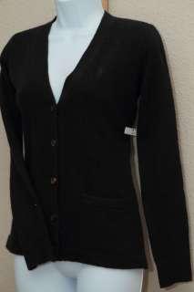 Ralph Lauren Ladies V neck Wool Cardigan NWT BLACK