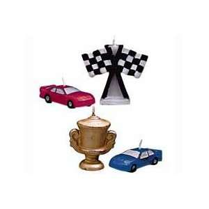 Race Car Candle and Cake Decoration: Home & Kitchen