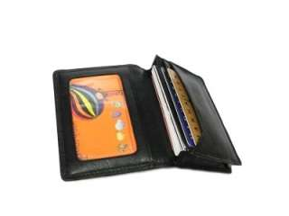 Men Genuine Leather Business Credit Card Holder Wallet