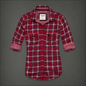 Abercrombie&Fitch Womens Shirt/BlouseTara,Red Plaid