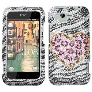 Rhyme Crystal Diamond BLING Case Phone Cover Playful Leopard