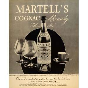 Martells Cognac Brandy Liquor   Original Print Ad Home & Kitchen