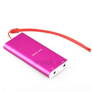 1350mAh Portable Power Solar Charger Cell Phone iPhone Pink
