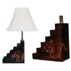 Dragon Step Tansu Table Lamp