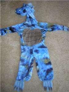 BLUE DRAGON Furry Kids Halloween Costume Sz 3 4 36