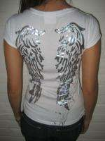DOM REBEL LARGE WOMEN ANGEL WINGS T SHIRT