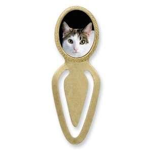 Gold tone Calico Cat Simple Simple Bookmark Jewelry
