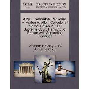 Amy H. Varnedoe, Petitioner, v. Marlon H. Allen, Collector