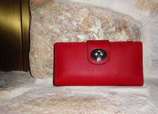 COACH PENELOPE RED LEATHER SHOULDER BAG 16535 AND MATCHING WALLET